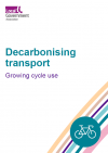 Decarbonising transport - Growing cycle use front cover