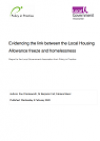 Local Housing Allowance freeze and homelessness report