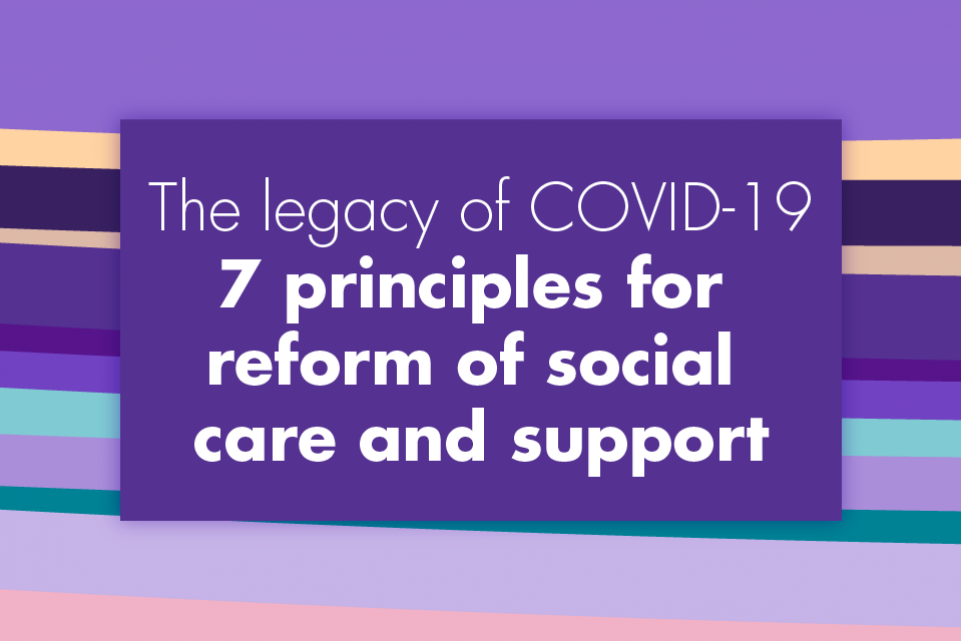 Adult social care: seven principles for reform