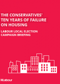 Local election housing campaign labour cover